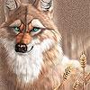 Пятнашки: Лисичка (Fox blue eyes slide puzzle)