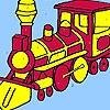 Раскраска поезд играть