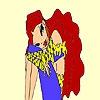 Раскраска: Грустная девушка (Sorrowful little girl coloring)