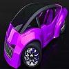 Пазл: Футуристичный авто (Futuristic pink car puzzle)