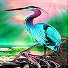 Пятнашки: Цапля (Colorful heron slide puzzle)