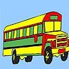 Раскраска: Большой автобус (Long country bus coloring)
