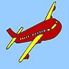 Раскраска: Самолет (Nature airplane coloring)
