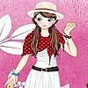 Одевалка: Наряд для девушки (Pink garden girl dress up)