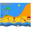 Раскраска: Тропический пляж (Tropical Beach Coloring)
