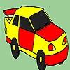Раскраска: Такси (Decrepit taxi coloring)