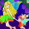 Одевалка: Мама и дочка (Fairy Mom and Baby)