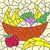Раскраска: Корзина фруктов (Classic fruit basket coloring)
