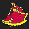 Раскраска: Танцовщица (Melancholik dancer coloring)