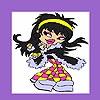 Раскраска: Веселая девушка (Crazy punk girl coloring)