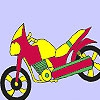 Раскраска: Мотоцикл (Fast school motorbike coloring)