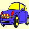 Раскраска: Автомобиль (Blue cute car coloring)