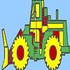 Раскраска: Трактор (Big village truck coloring)