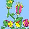 Раскраска: Цветы на ферме (Flowers in the farm coloring)
