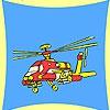 Раскраска: Военный вертолет (Military transport helicopter coloring)