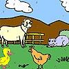 Раскраска: Забавные животные (Funny farm animals coloring)