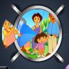 Круговой пазл: Даша путешественница (Dora Pictart)