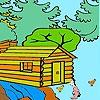 Раскраска: Ферма в лесу (Farmer in the woods coloring)