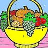 Раскраска: Корзина фруктов (Fruit basket in the kitchen coloring)
