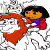 Раскраска: Даша в зоопарке (Dora Color 3)