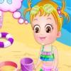 Сокровища на пляже (Baby hazel at beach)