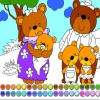 Раскраска: Семья медведей (Bear Family: Coloring)