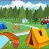 Отдых на природе: Найди отличия (Camping spot the difference)
